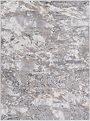 """Home Accent Shantell 5'2"""" x 7' Area Rug, Black/Gray, large"""