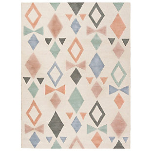 Rectangular 5' x 7' Rug, White, large