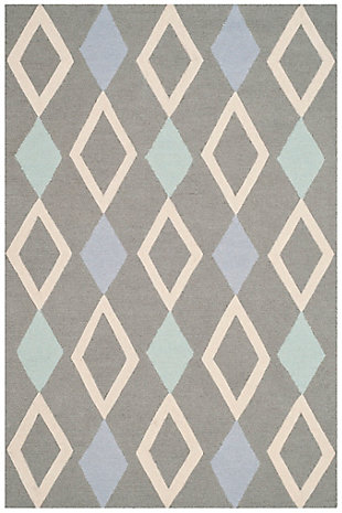 Rectangular 4' x 6' Rug, Gray, large