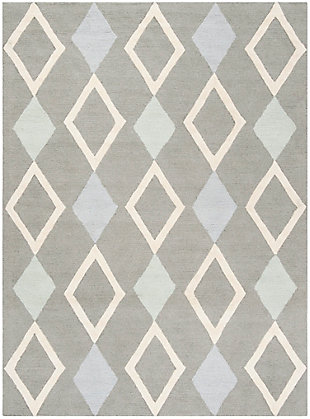 Rectangular 6' x 9' Rug, Gray, large