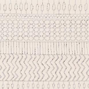 Surya Pisa 5' x 7' Area Rug, Black/Gray, large