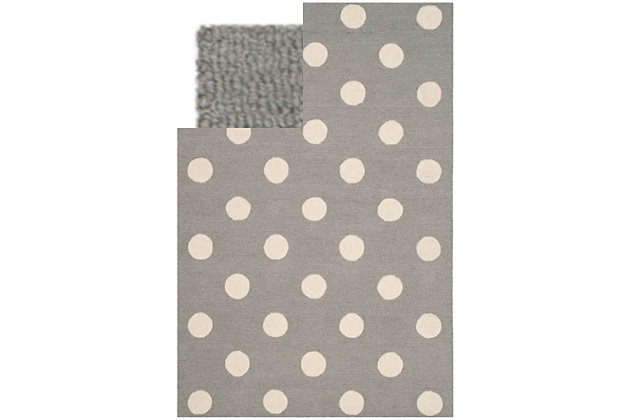 Rectangular 3' x 5' Rug, Gray, large