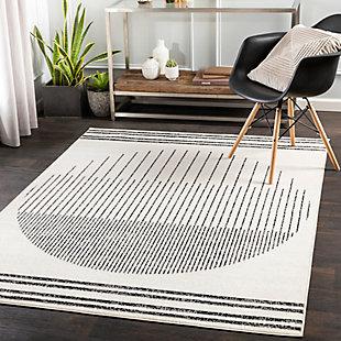 Surya Pisa 5' x 7' Area Rug, Black/Gray, rollover