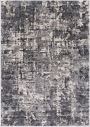"""Home Accent Evia 5'3"""" x 7'3"""" Area Rug, Black/Gray, large"""