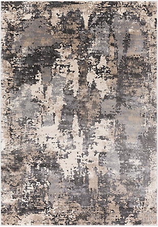 "Home Accent Yanira 5'3"" x 7'3"" Area Rug, Black/Gray, large"