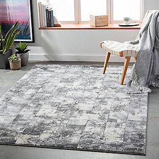 "Home Accent Hilda 5'3"" x 7'3"" Area Rug, Black/Gray, rollover"