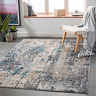"Home Accent Hollis 5'3"" x 7'3"" Area Rug, Black/Gray, rollover"