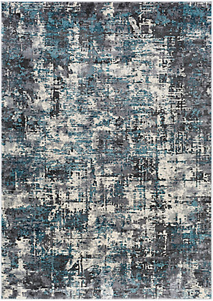 "Home Accent Evia 5'3"" x 7'3"" Area Rug, Black/Gray, large"