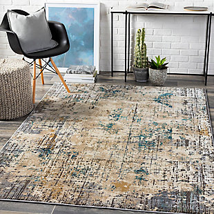 "Home Accent Angela 5'3"" x 7'3"" Area Rug, Brown/Beige, rollover"