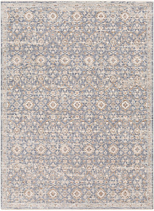 "Home Accent Hortencia 5' x 8'2"" Area Rug, Blue, large"