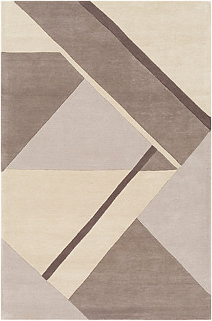 "Home Accent Gracie 5' x 7'6"" Area Rug, Brown/Beige, large"