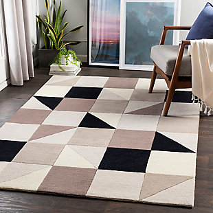 "Home Accent Issac 5' x 7'6"" Area Rug, Black/Gray, rollover"