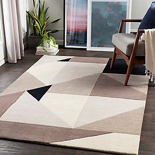 "Home Accent Vella 5' x 7'6"" Area Rug, Black/Gray, rollover"
