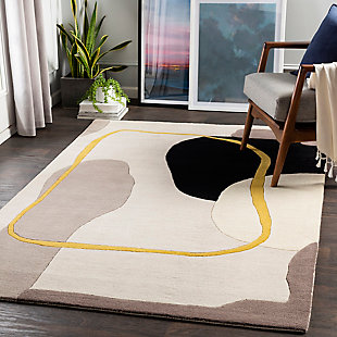 "Home Accent Barrett 5' x 7'6"" Area Rug, Yellow, rollover"