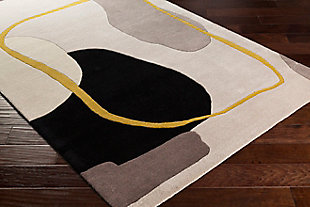 """Home Accent Barrett 5' x 7'6"""" Area Rug, Yellow, large"""
