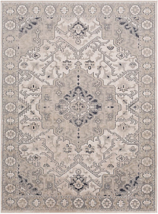 "Surya Rafina 5'3"" x 7'3"" Area Rug, Black/Gray, large"