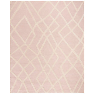 Rectangular 8' x 10' Rug, Pink, large