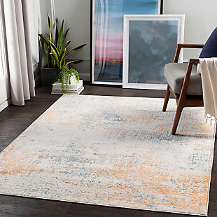 "Surya Rafina 5'3"" x 7'3"" Area Rug, Orange, rollover"