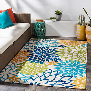 Home Accent Elke 5' x 8' Area Rug, Green, rollover