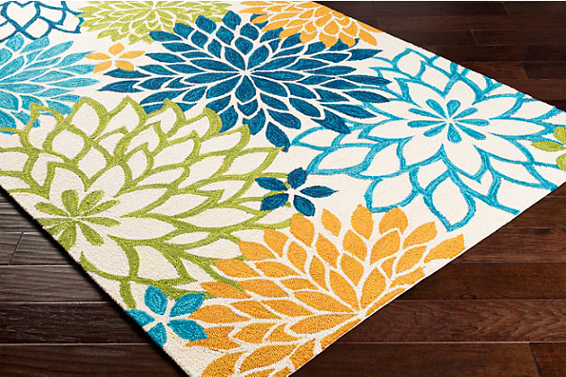 Home Accent Elke 5' x 8' Area Rug, Green, large
