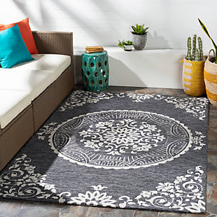 Home Accent May 5' x 8' Area Rug, Black/Gray, rollover