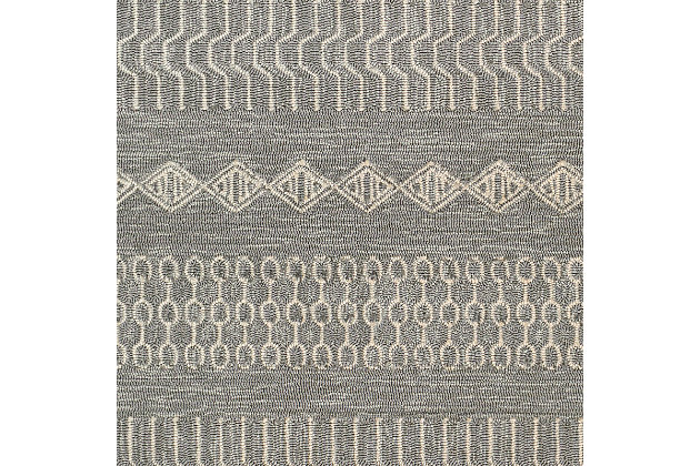 Home Accent Nery 5' x 8' Area Rug, Black/Gray, large