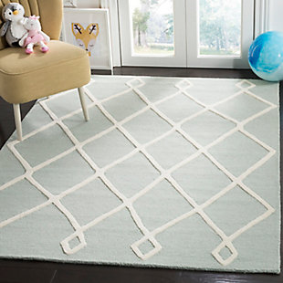Rectangular 5' x 7' Rug, Blue, rollover