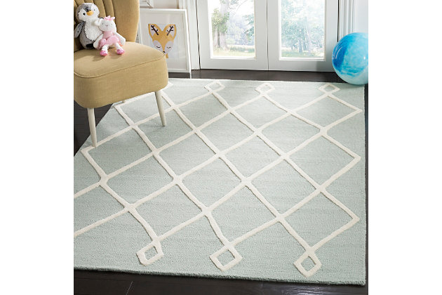 Rectangular 5' x 7' Rug, Blue, large