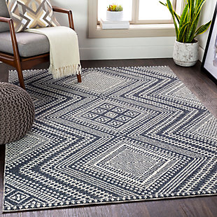 "Home Accent Keisha 5'3"" x 7'3"" Area Rug, Black/Gray, rollover"