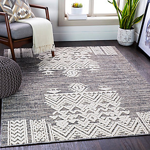 "Home Accent Noble 5'3"" x 7'3"" Area Rug, Black/Gray, rollover"