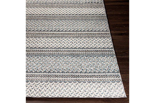 """Home Accent Irma 5'3"""" x 7'3"""" Area Rug, Black/Gray, large"""
