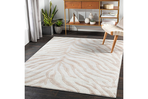 """Home Accent Shonta 5'3"""" x 7'3"""" Area Rug, Brown/Beige, large"""