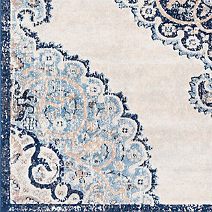"""Home Accent Gooslin 5'3"""" x 7'3"""" Area Rug, Blue, large"""