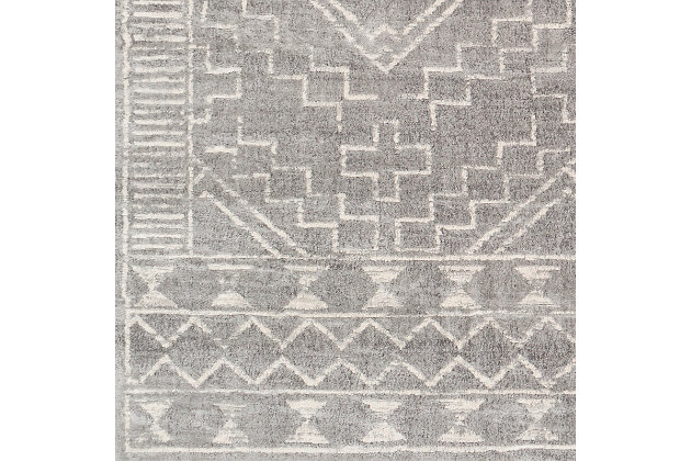 "Surya Roma 5'3"" x 7'1"" Area Rug, Black/Gray, large"