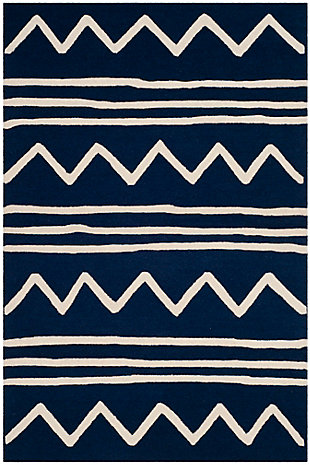 Rectangular 4' x 6' Rug, Blue, large