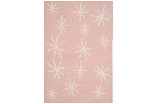 Rectangular 3' x 5' Rug, Pink, large