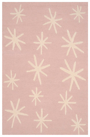 Rectangular 4' x 6' Rug, Pink, large