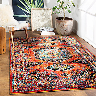 "Home Accent Leffel 5'3"" x 7'3"" Area Rug, Orange, rollover"