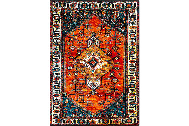 """Home Accent Stocking 5'3"""" x 7'3"""" Area Rug, Black/Gray, large"""
