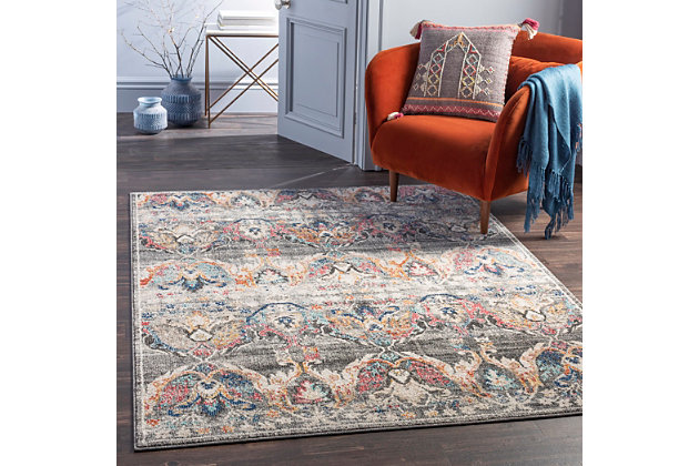 """Home Accent Berwick 5'3"""" x 7'3"""" Area Rug, Brown/Beige, large"""