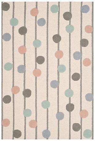 Rectangular 4' x 6' Rug, White, large