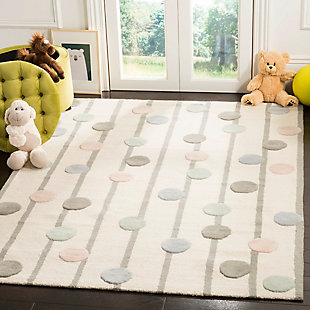 Rectangular 5' x 7' Rug, White, rollover