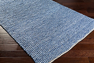 "Home Accent Clowers 5' x 7'6"" Area Rug, Blue, rollover"