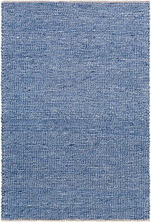 "Home Accent Clowers 5' x 7'6"" Area Rug, Blue, large"