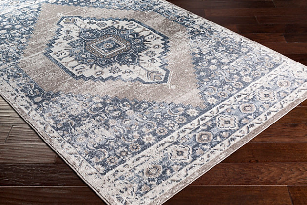"Surya St 5'2"" x 7' Area Rug, Blue, large"