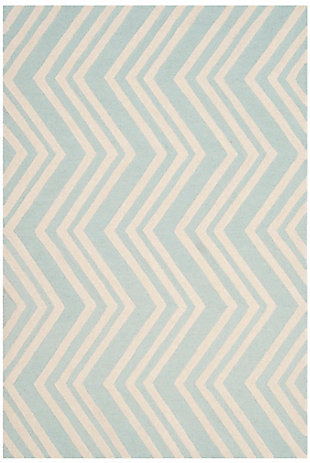 Rectangular 3' x 5' Rug, Blue, rollover