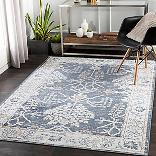 "Surya St 5'2"" x 7' Area Rug, Blue, rollover"