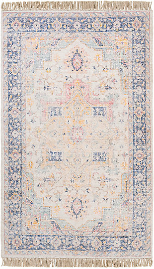 "Home Accent Burk 5' x 7'6"" Area Rug, Orange, large"