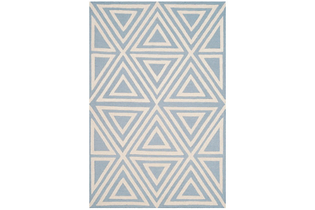 Rectangular 3' x 5' Rug, Blue, large