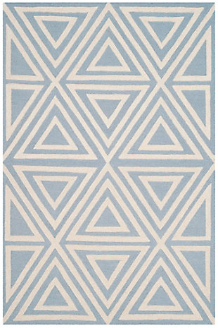 Rectangular 4' x 6' Rug, Blue, rollover